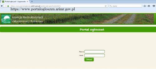 Portal Ogłoszeń ARiMR dla wnioskodawców/beneficjentów