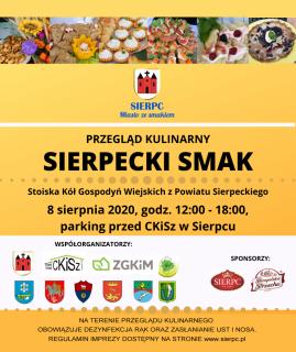 Plakat Przegląd Sierpecki Smak